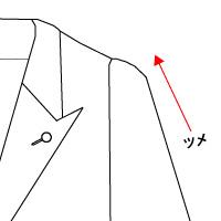 JACKET袖ツメ(肩から)